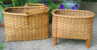 Swing-handled picnic and wool drying baskets